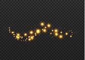 Dust sparks stars