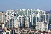 Seoul city landscape.