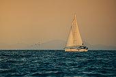 Boat on sea in Croatia