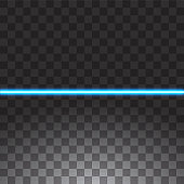 Blue Glowing Neon Line. Speed Motion Effect. Abstract lights line on transparent background. Easy replace use to any image.
