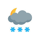 Simple weather vector icon in flat style