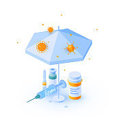 Immune system vector concept in isometric view