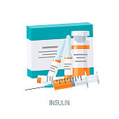 Insulin concept in flat style, vector icon
