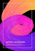 Vertical gradient background, 3d vector cover design