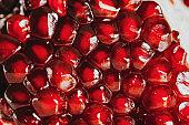 Close up image of pomegranate on white background
