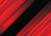 Abstract red lines speed motion on black center space design modern futuristic background vector illustration.