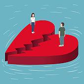 Broken Heart on the sea