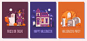 Halloween Party Cards, Posters or Invitation Sets