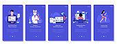 Online Business Marketing Concept Illustrations