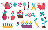 Home Gardening and Seedling Icons