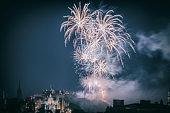 Firework Display in Edinburgh Scotland