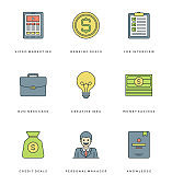 Flat line simple icons set. Thin linear stroke vector icons Essentials objects concept.