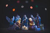 Nighttime Christmas Nativity Scene