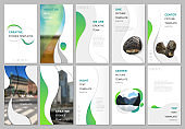 Creative social networks stories design, vertical banner or flyer templates with fluid colorful trendy gradients geometric shapes. Covers design templates for flyer, leaflet, brochure, presentation.