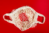 Cotton String Mesh Bag, Reusable Shopping Tote for Grocery