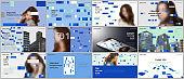 Minimal presentations design, portfolio vector templates with colorful elements, rectangles, gradient backgrounds. Multipurpose template for presentation slide, flyer leaflet, brochure cover, report.