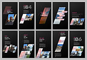 Creative social networks stories design, vertical banner or flyer templates with colorful gradient geometric background. Covers design templates for flyer, leaflet, brochure, presentation, advertising