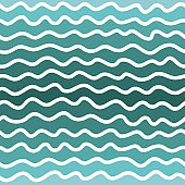 Repeating seamless pattern of wavy lines, geometric wavy lines drawn by hand. Abstract background, wallpaper, for the decoration.