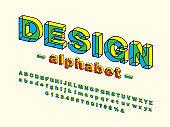 3D bold font