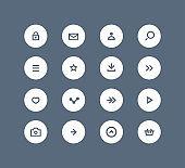 Vector user interface button set
