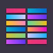 Vector button icon 3d web set modern gradient style