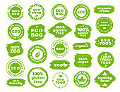 Eco icons set for natural product
