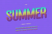 Summer vector font bold style