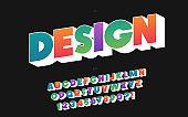 Design font 3d bold style for banner
