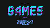 vector games font bold style