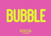 Vector bubble font