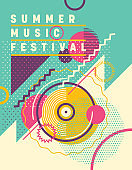 Summer music festival poster design.