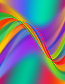Abstract wavy lines soft elegant background with vibrant colors.