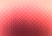 Shiny vibrant soft red colored, gradient and geometric background.