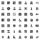 SEO and Internet service vector icons set