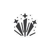 Fireworks stars explosion vector icon