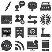 Communication vector icons set