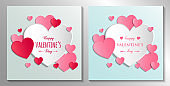 Concept of a Valentine's Day greeting card collection. Vector