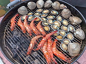 Grilled shrimp with shell