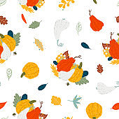 Autumn flat illustration