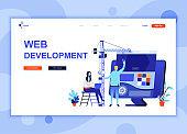Modern flat web page design template concept of Web Development