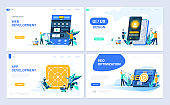 Set of landing page template for Web and App Development, UI/UX Design, SEO.