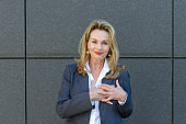 Businesswoman showing her heartfelt gratitude