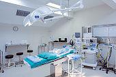 Interior of operating room in hospital