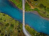 Bridge connecting country roads.