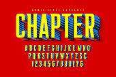 Trendy 3d comical letters design, colorful alphabet