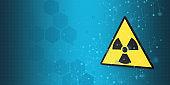 Energy concept; radioactive warning symbol