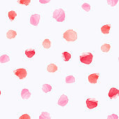 Watercolor abstract seamless pattern with circles