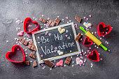 Valentine day baking concept