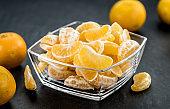 Fresh Tangerine pieces (selective focus)