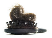 Isolated hairy hair brush
